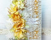 "OOAK ""Any Occasion"" Shabby Chic Handmade Card by Natalie Z."