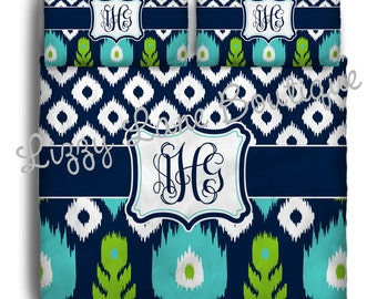 Custom Personalized Monogrammed Duvet OR Comforter SET (Twin, Full/Queen, or King) - Great for dorms!