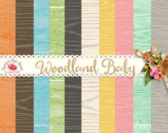 Woodland Baby Wooden Paper Set