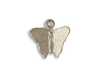 Vintaj 16x15mm Fluttering Butterfly - Artisan Pewter