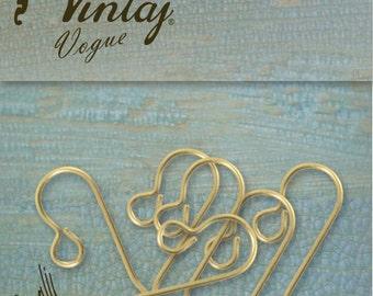 Vintaj Vogue French Ear Wires (6 pcs/pkg)