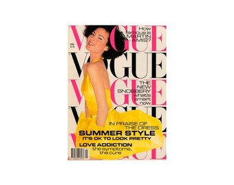 Vogue Magazine - UK April 1995 Vintage issue with cover photograph by Mario Testino