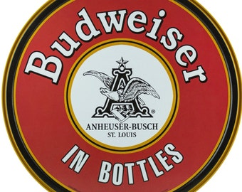 Vintage Budweiser Tin Sign (0009999ART47A)