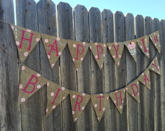 First Birthday Banner / Bunting