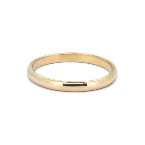 The Traditional Wedding Ring Handmade Gold Wedding Band