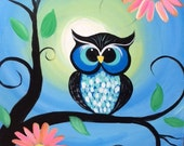 Whimsical Owl Painting