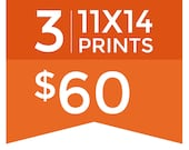 Pick any 3 prints - 3 piece 11x14 print bundle - Choose your prints - Modern funny art set for kitchen, laundry room, nursery, office decor
