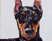 CUSTOM Dog Portrait Oil Painting 12x12 Pet Memorial Birthday Gift