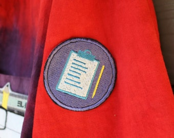 Science Lab Notebook Patch