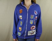 Vintage Hand Made State Patch Jacket