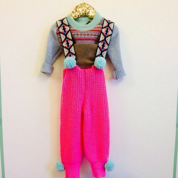 STEP 3-4 Years Kids Childrens Dungarees Onesie Playsuit Trousers Pants Upcycled Wool Unisex