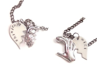 Kiseijuu/Parasyte Shinichi & Migi Lovers/Best Friends Necklaces