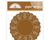 Bon Bon Brown Paper Doilies 4.5 Inch Set of 75 by Doodlebug Designs for Scrapbooks, Crafts, Food Crafts, and More