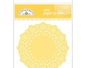 Bumblebee Yellow Mini Paper Doilies 3 Inch Set of 75 by Doodlebug Designs for Scrapbooks, Crafts, Food Crafts, and More