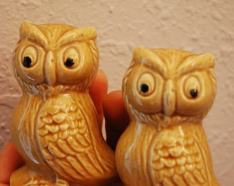 Pair of Vintage PORCELAIN OWLS