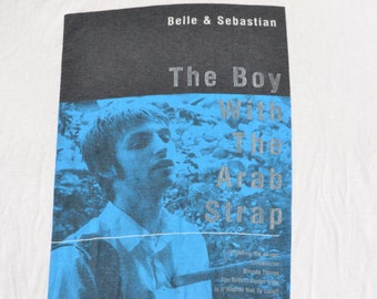 Belle and Sebastian 90's The Boy With The Arab Strap Shirt Size L T-Shirt Indie Pop