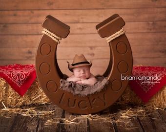 Horseshoe Prop, Cowboy Prop, Newborn Photography Prop, Newborn Prop, Baby Prop