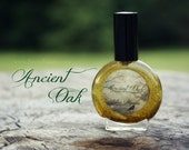 Natural perfume - oak wood moss tobacco rosewood vanilla - ANCIENT OAK - 1 one ounce spray bottle