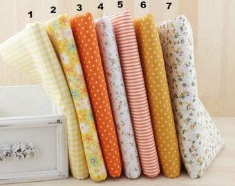 "Yellow Bundle Yellow Cotton Fabric Bundle- Yellow Fabric Fat Quarter Bundle, 7 Fat Quarters Pieces each 19""X19"" (QT513-M)"