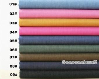 Summer Denim Cotton Fabric, Breatability Denim,Yarn Dyed Tencel Light weight denim, Solid Color,Plain, Garment, diy, Sewing 1/2 yard(QT526A)