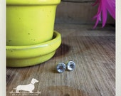 Crystal Gem. Post Earrings -- (Clear, Silver, Small, Simple, Modern, Minimalist, Round, Diamond Studs, Unisex, Gemstone, Faceted, Under 10)