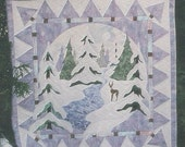 Pine Meadows Design Pattern  Applique  Winter January Scene  New