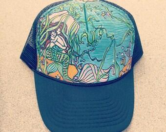 Mermaid & Son Trucker Hat by Roupoli Roupolimama