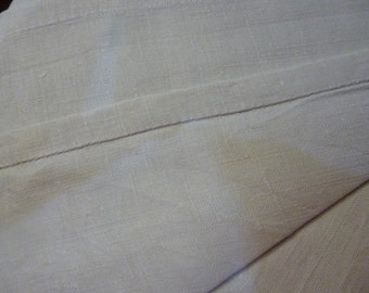 100% Pure Linen Sheet, Antique French,  Early Center Seam, Circa 1880ish