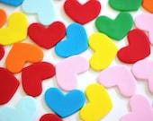 Fondant Hearts - Edible Hearts - Heart Fondant Toppers