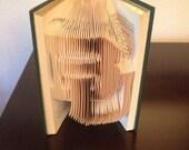 Baylor University Folded Book Art Sculpture BU