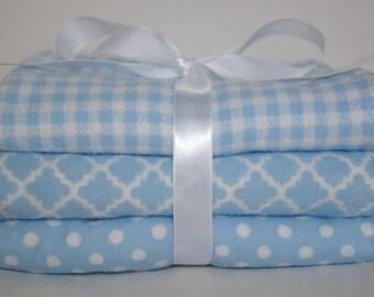 Baby Boy- Baby Burp Cloth - Flannel Burp Cloth - Girl Burp Cloths - Blue Burp Cloths - Burp Pads - Diapers - Burp Rags - Layette - Baby Gift