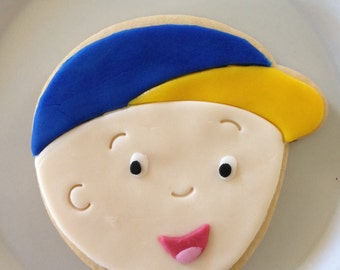 Little boy Cookie Favors Inspired by Calliou Cartoon Character