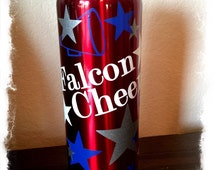 Cheer water bottle -Customizeyour team and colors- Stainless Steel Water Bottle