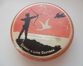 """most rare vintage soviet tin box container """"Tale about Saltan"""" Pushkin, from sweet, made in USSR in 50-th"""