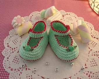 CROCHET Baby Shoes PATTERN - Little Lilly crochet Shoes Pattern Crochet Ballerina for babies pdf pattern Instant Download