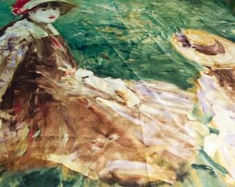 Vintage Impressionist Silk Scarf