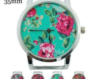 Floral Solid Bar Beading Watch Face - Many Colors Available! - 35 mm