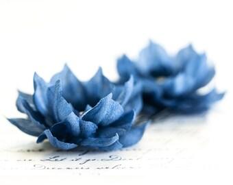 714_Blue flower barrette, Hair clips flowers, Hair pins, Wedding hair accessories, Bridal hair accessories, Bridal hair clips, Wedding pins