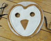 Barn Owl Animal Mask - Realistic Woodland, Kids Fantasy Costume Dress Up