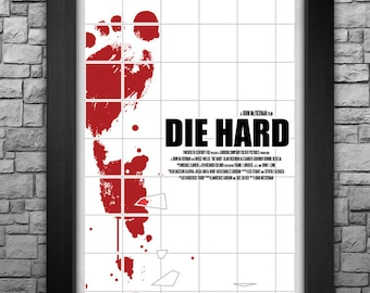"""DIE HARD inspired limited edition 11x17"""" art print"""