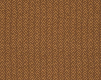 SALE Ginger Snap by Heather Bailey for Free Spirit - Herringbone - Cocoa - FQ Fat Quarter yard cotton quilt fabric 516
