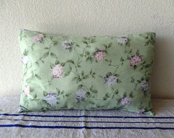Pale green Lilacs lumbar pillow 14 x 23 inch