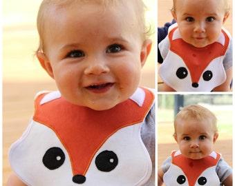 Fox Baby Bib, Sewing Pattern, Easy.  PDF Pattern.  Instant Download.