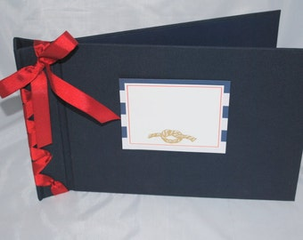 Nautical Photo/Scrapbook Album - with personalization for a customized product