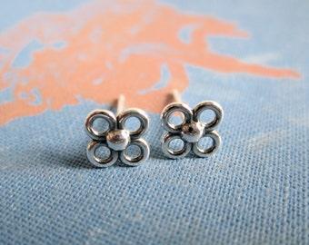 Little Flower Sterling Silver Studs