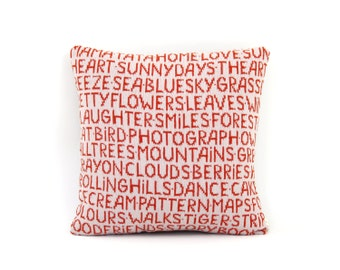 Favorite Things Pillow - Lambswool / Leather pillow