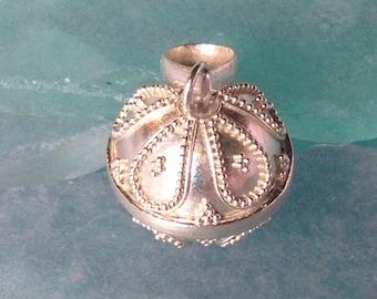 Bali Handmade 925 Silver Harmony Ball Charm Pendant