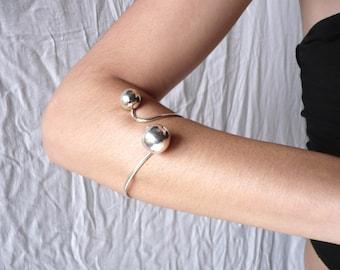 sterling silver balls cuff bracelet