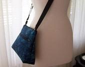 Cross body Bag Blue Batik
