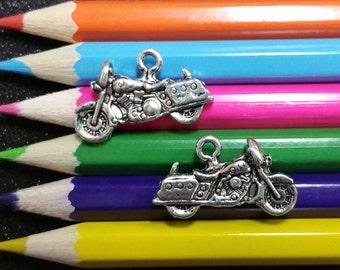 5 PCS - Motorcycle Bike Silver Charm Pendant C0173